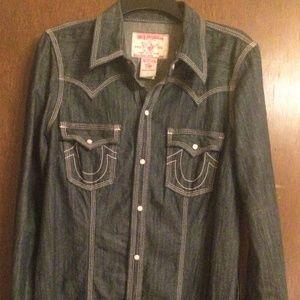 True Religion Denim Shirt/Dress  *Large*
